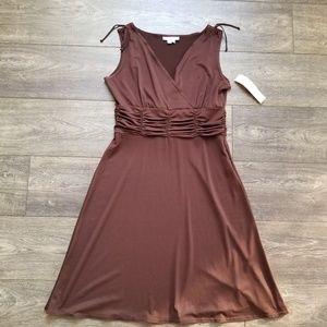 Dress Barn Brown Sleevelss Dress - 10